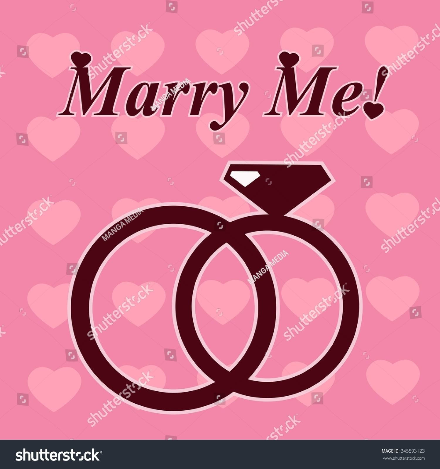 Marry Me Composition Wedding Rings Stock Vector 345593123 - Shutterstock