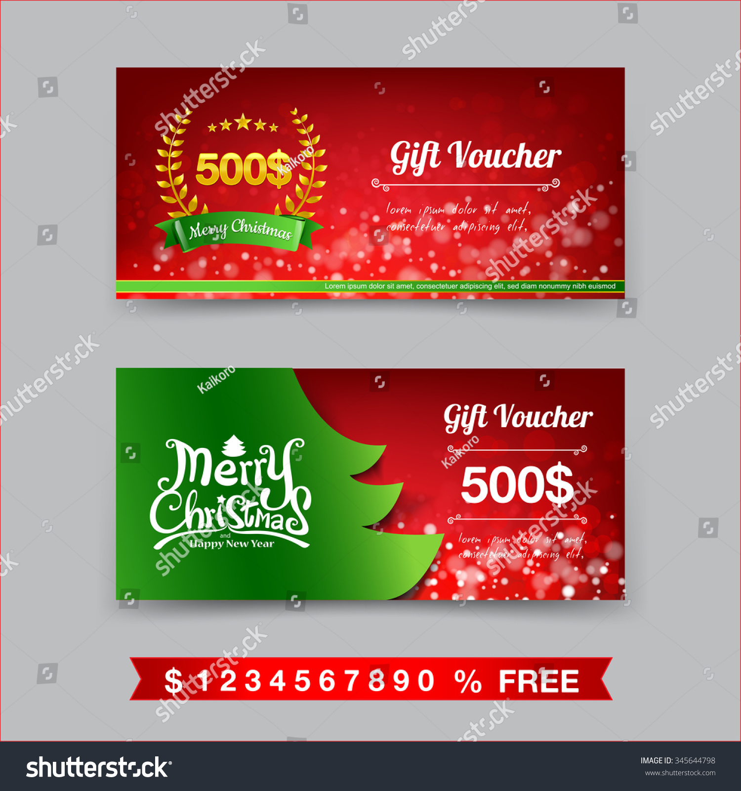 merry christmas gift voucher template vector stock vector merry christmas gift voucher template vector illustration eps10
