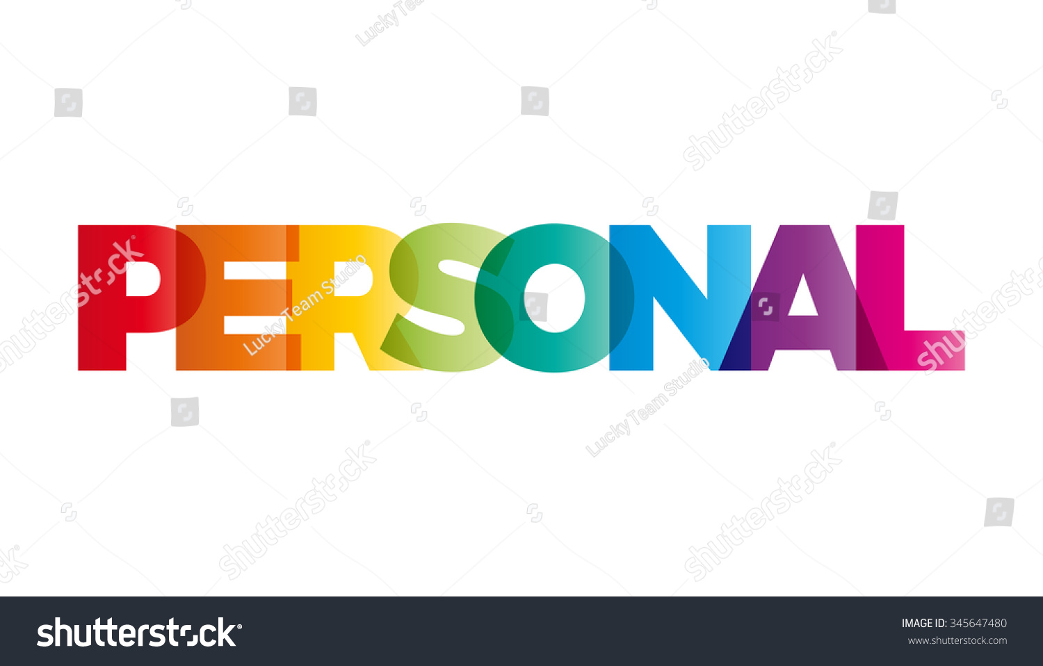 word personal vector banner text colored stock vector 345647480