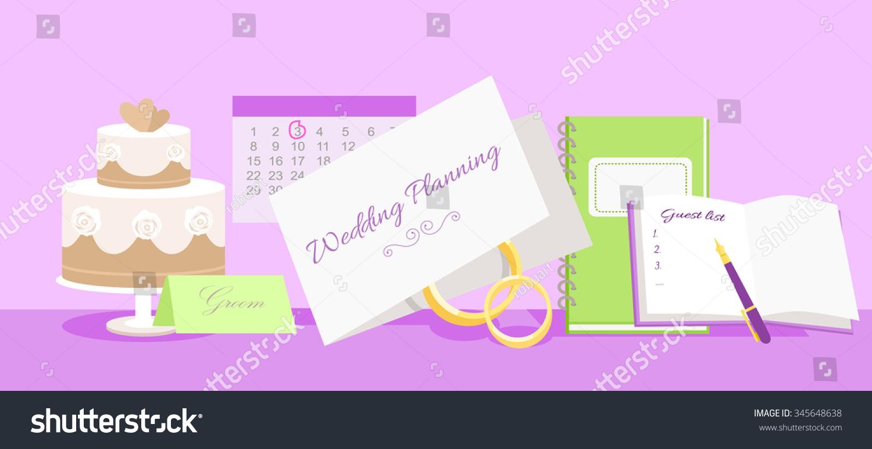 Wedding planning design flat fashion wedding stock vector wedding planning design flat fashion wedding planner event planning wedding invitation plan junglespirit Gallery