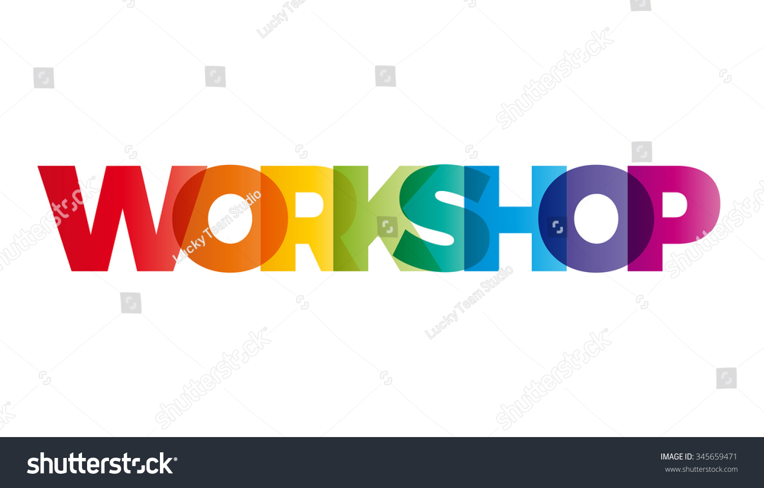 word workshop vector banner text colored stock vector royalty free
