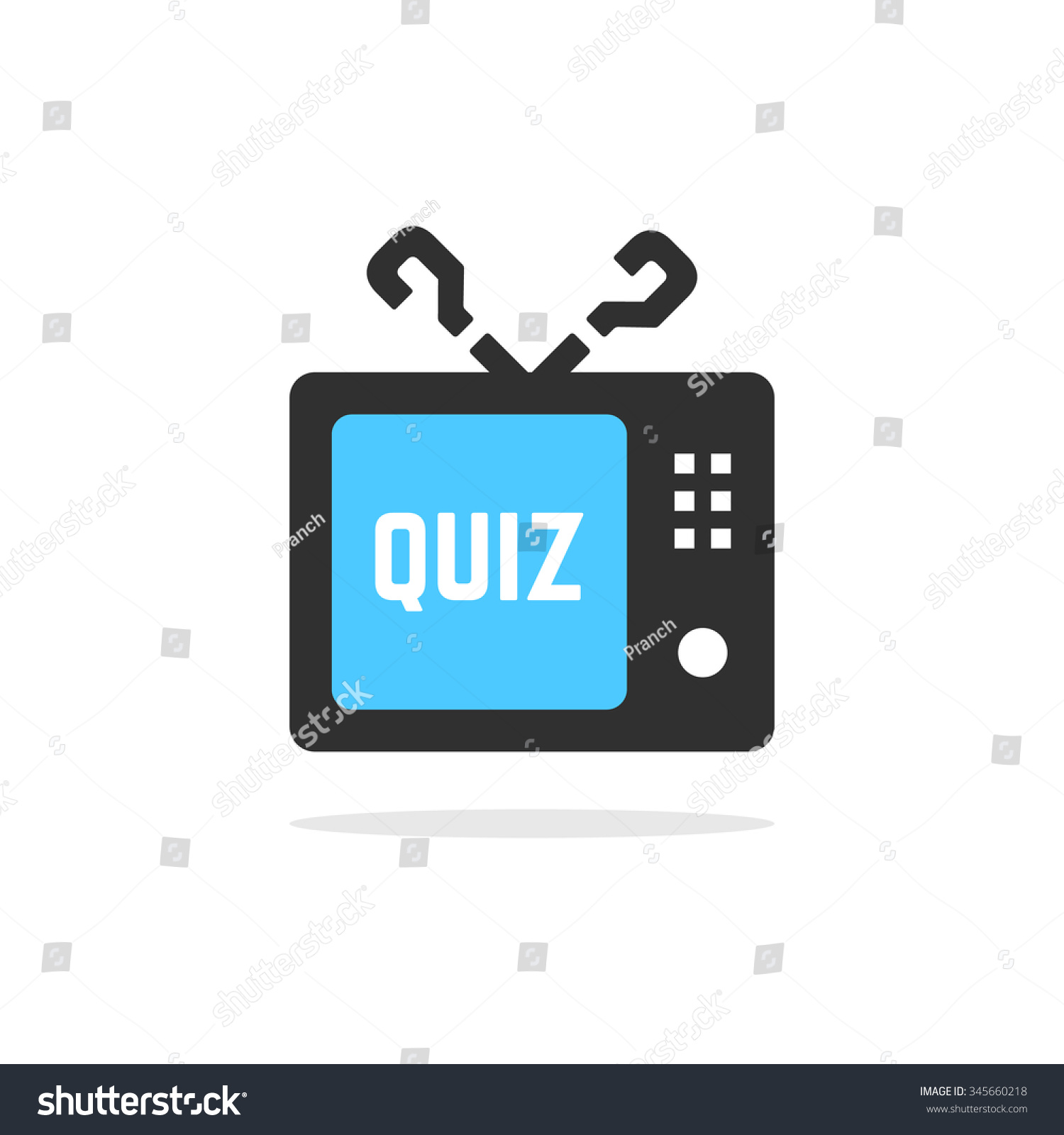 tv quiz button shadow concept of faq dialog interview save to a lightbox
