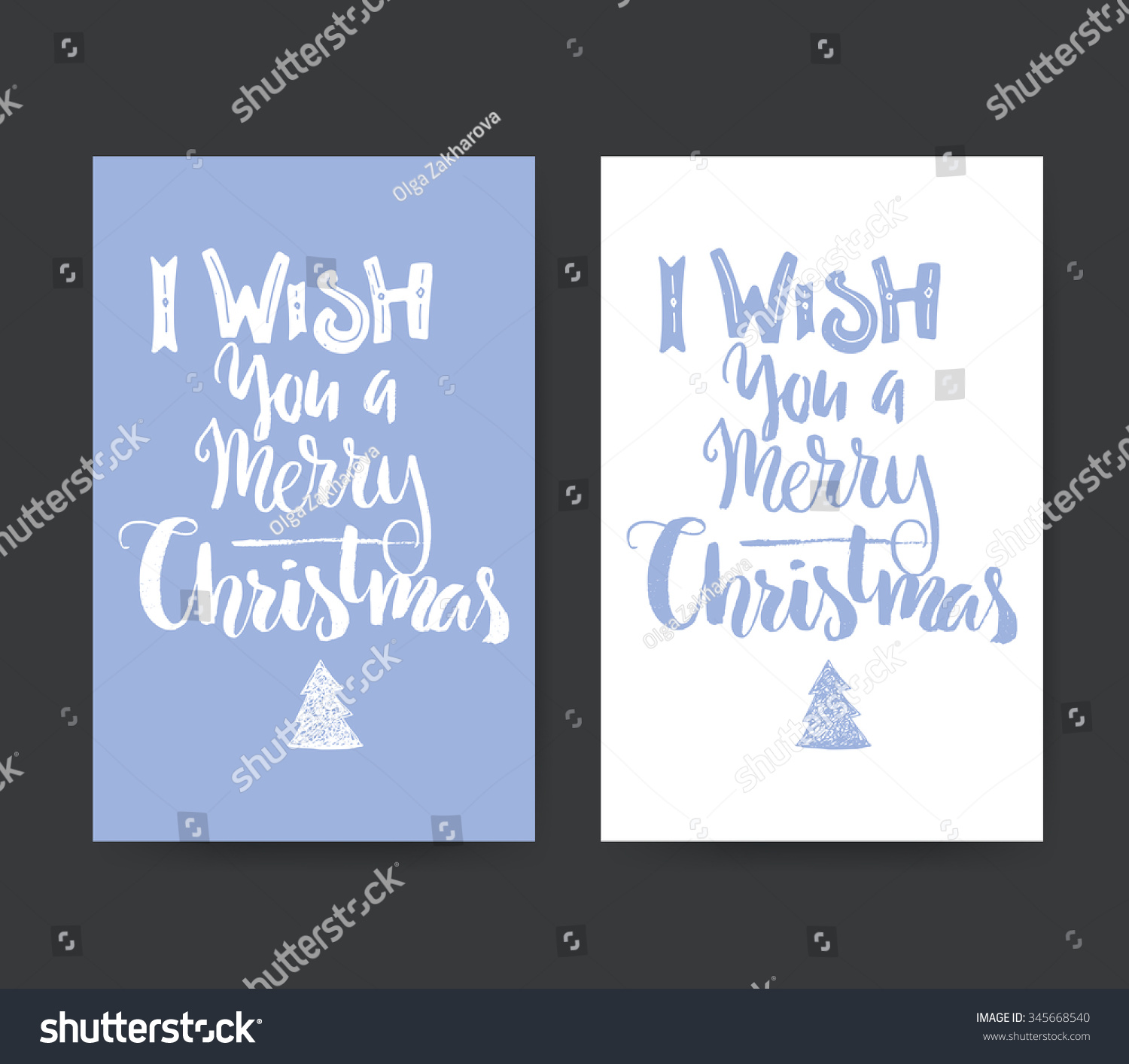 Set Greeting Card Templates Unique Christmas Stock Vector 345668540