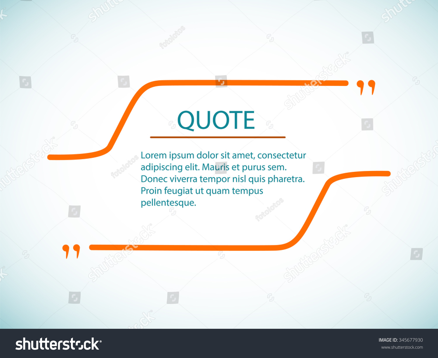 Cloud Quotes Template Quote Quote Text Bubble Cloud Stock Vector 345677930