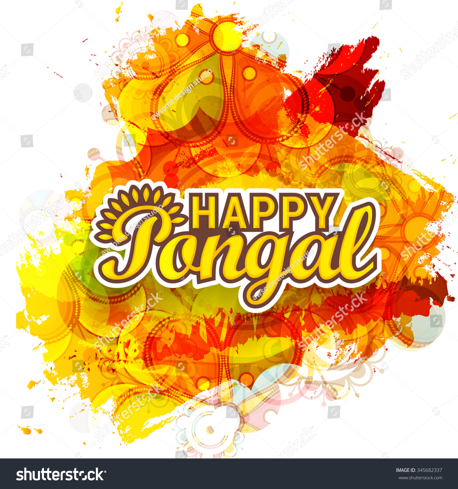 Happy pongal greetings with former homemade card designs vector illustration happy pongal greeting card stock vector stock vector vector illustration of happy pongal greeting m4hsunfo