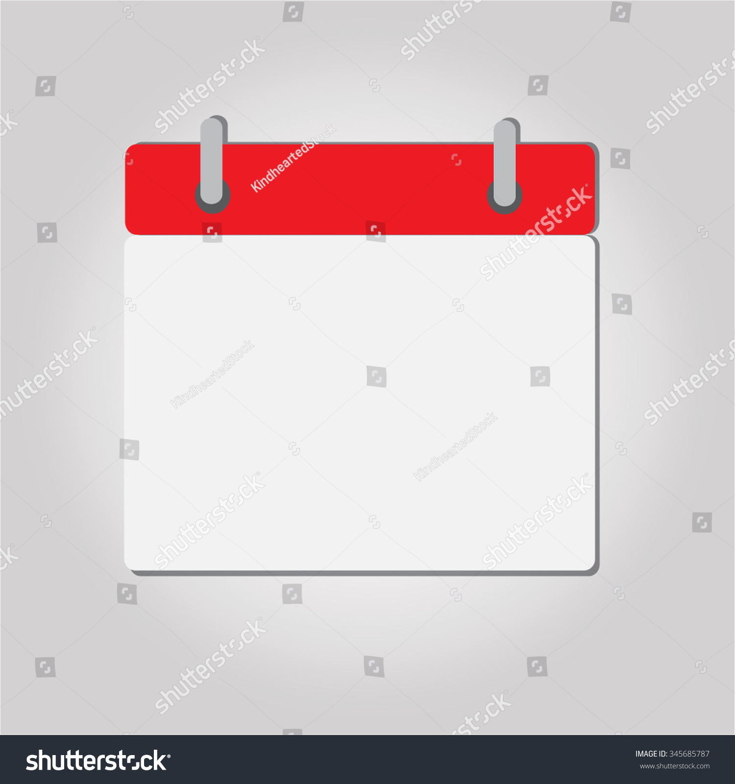 Blank Calendar Icon Vector : Calendar icon blank easy to edit vector