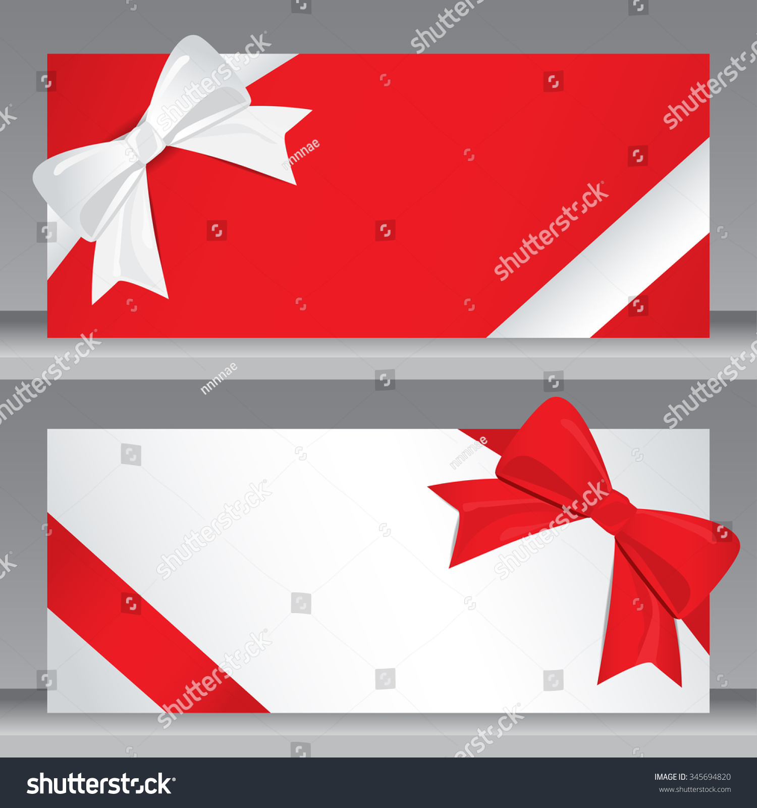 christmas holiday new year gift voucher stock vector 345694820 christmas holiday and new year gift voucher certificate coupon template can be use for business