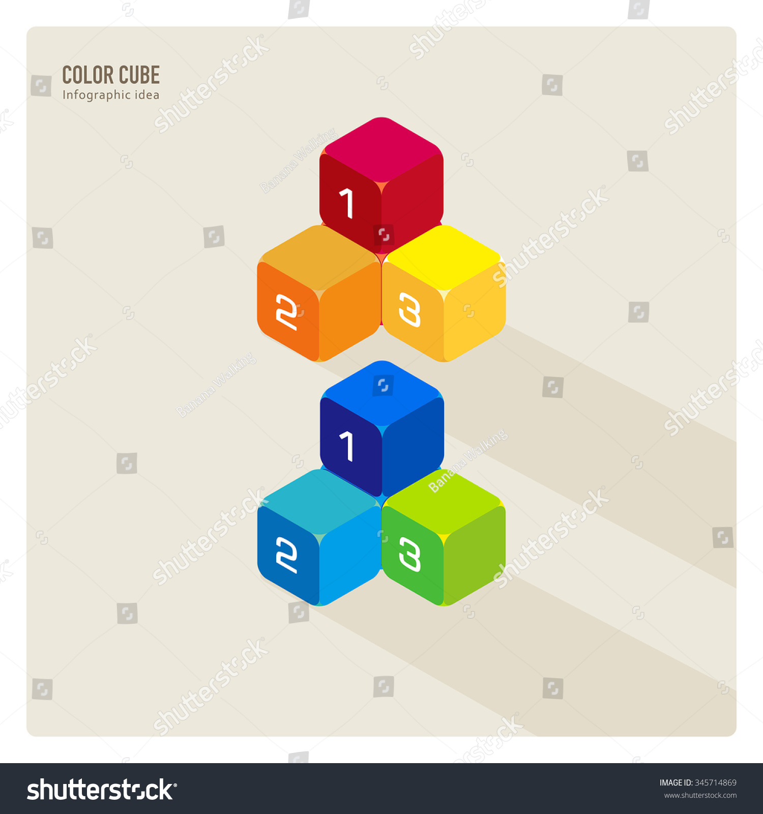 vector cute number box cubes building stock vector royalty free