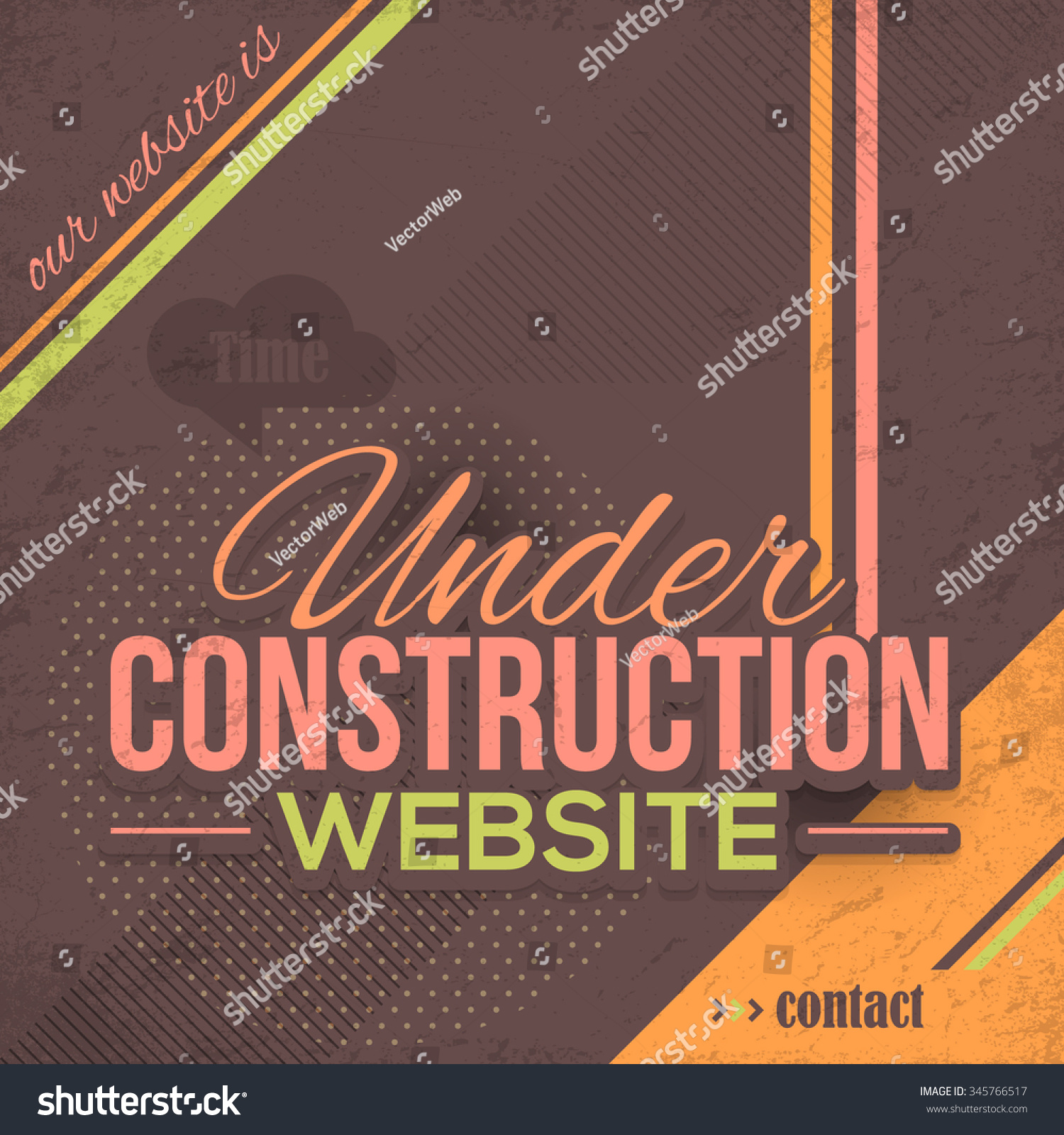 Geomotric Grunge Background Website Under Construction Stock Vector Royalty Free 345766517
