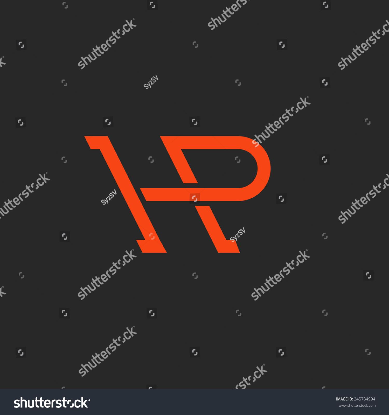 Logo HP Letters Monogram Weave Thin Stock Photo (Photo, Vector ...