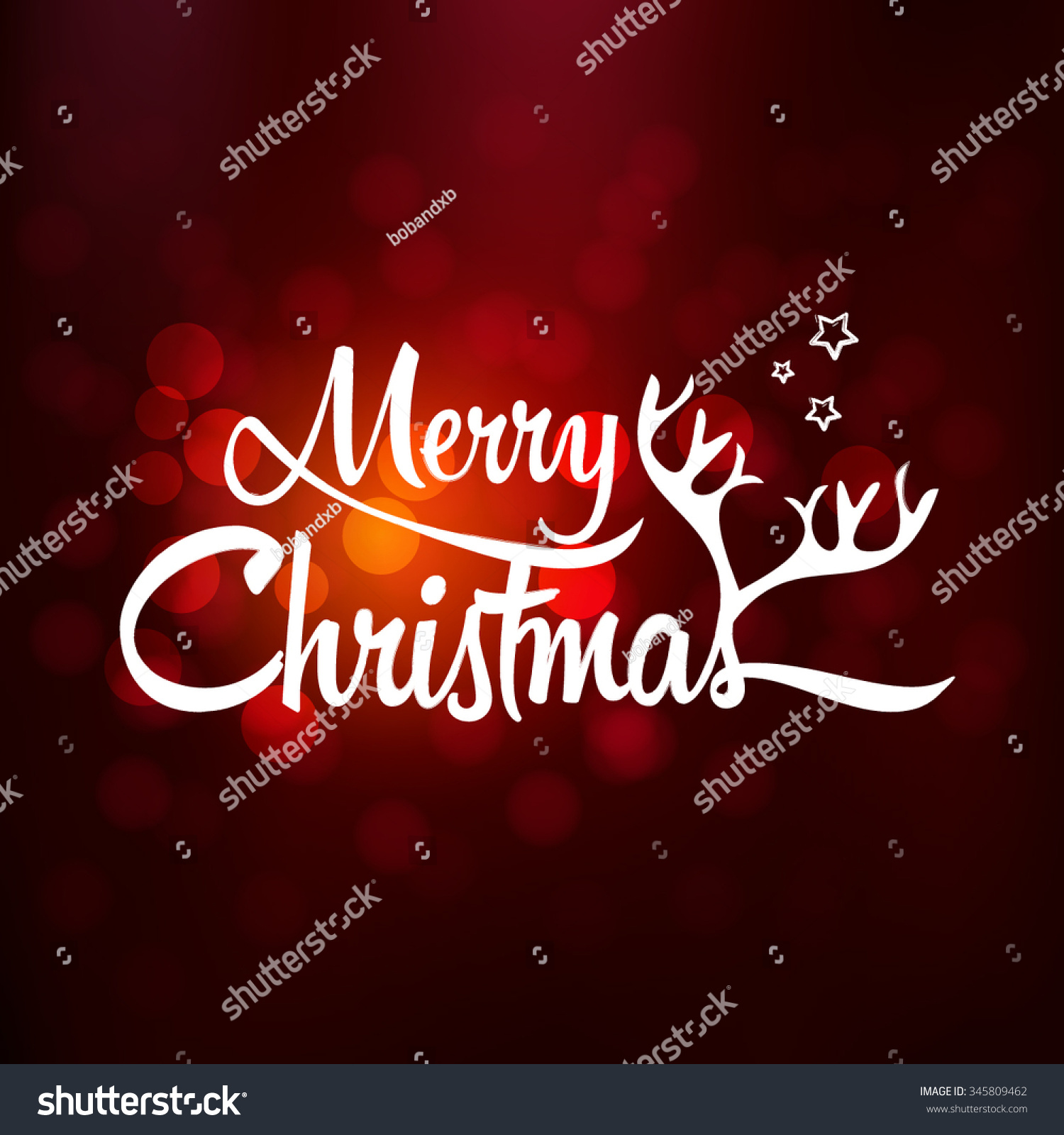 Merry Christmas Christmas Greeting Card Merry Stock Vector (Royalty ...