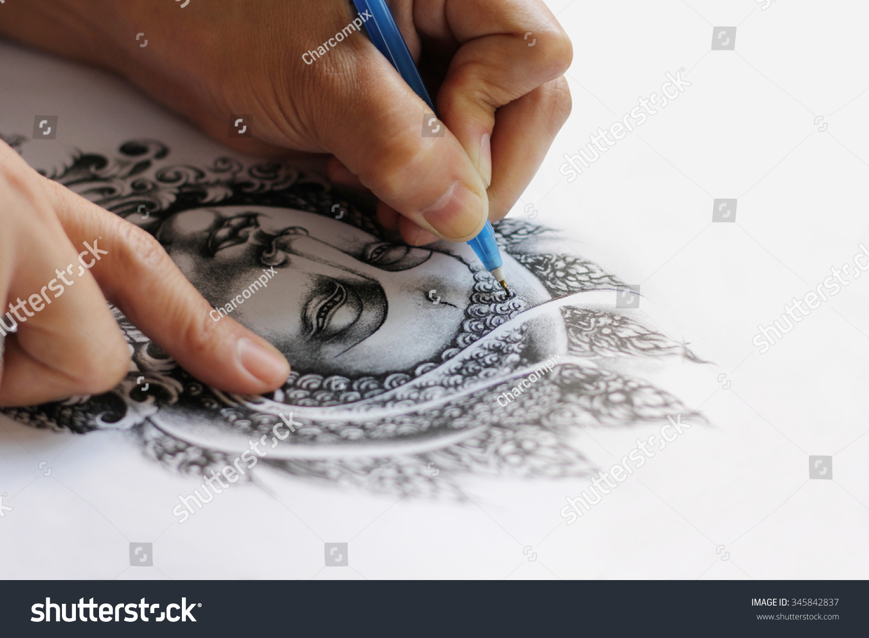 Art Tattoo Designs Hand Drawn Image Stock Photo Edit Now 345842837