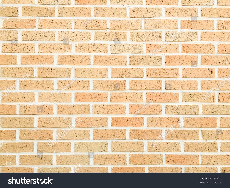 Orange Cream Color Bricks Block Cement Stock Photo 345849416 ...