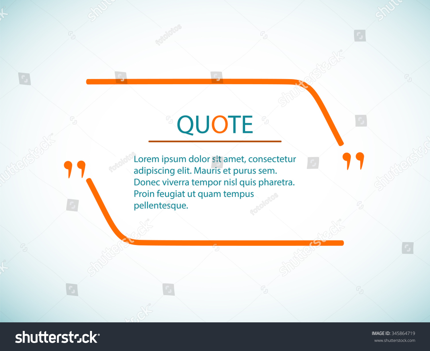 Cloud Quotes Quote Text Blank Quote Template Vector Stock Vector 345864719