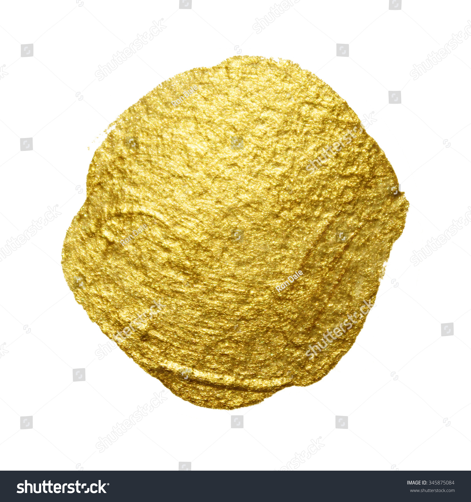 Gold Paint Circle Smear Stain Texture Stock Illustration 345875084 ...