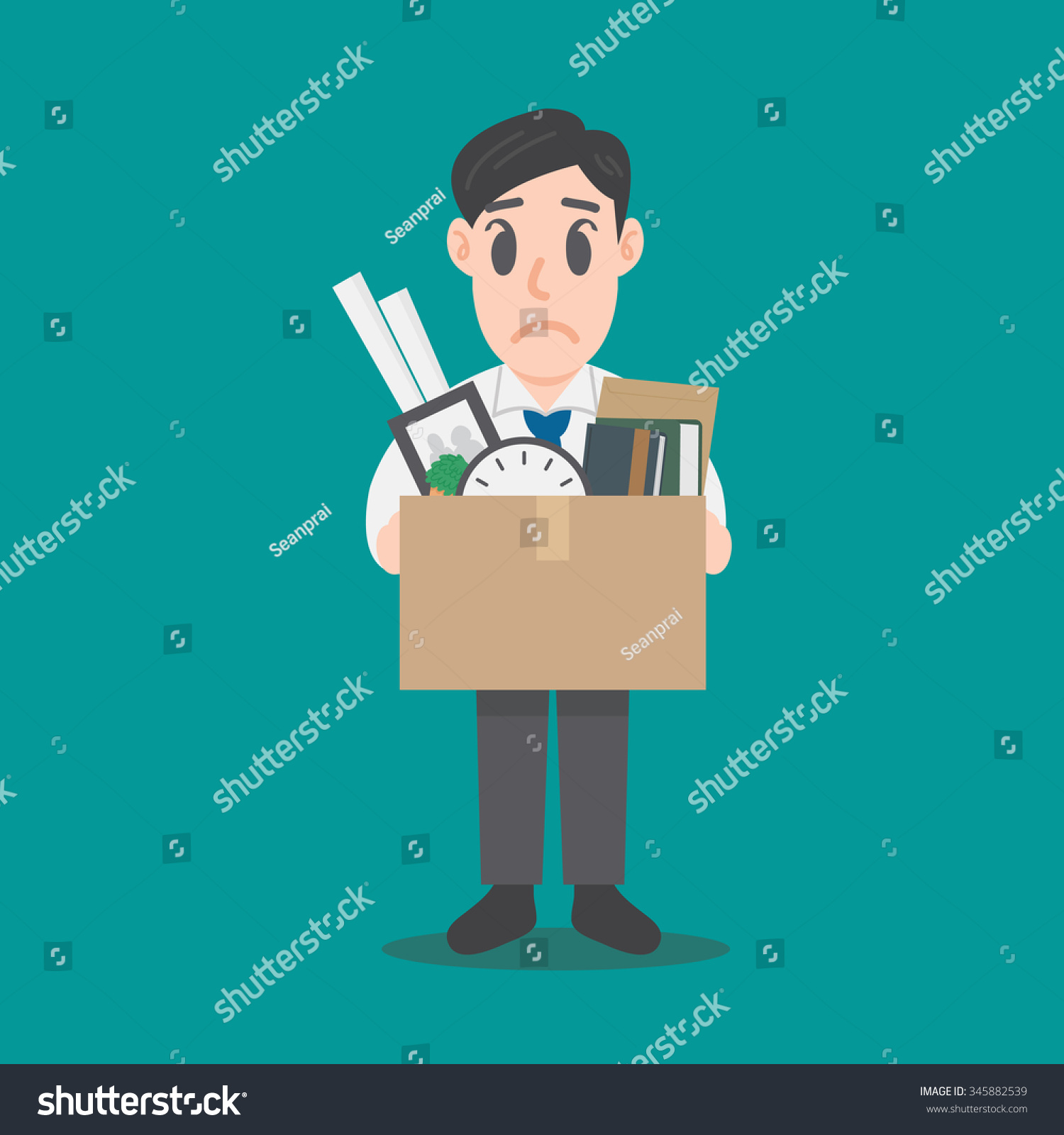 businessman leaving job fired illustration vector  businessman leaving job fired illustration vector