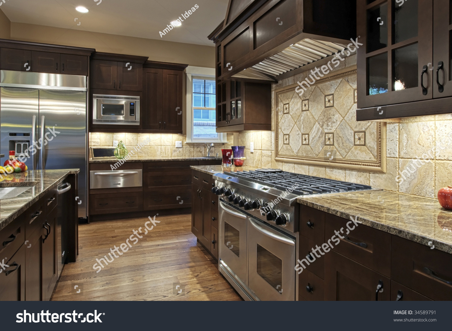 Granite Countertops For Kitchen Luxury Kitchen Granite Countertops Stock Photo 34589791 Shutterstock
