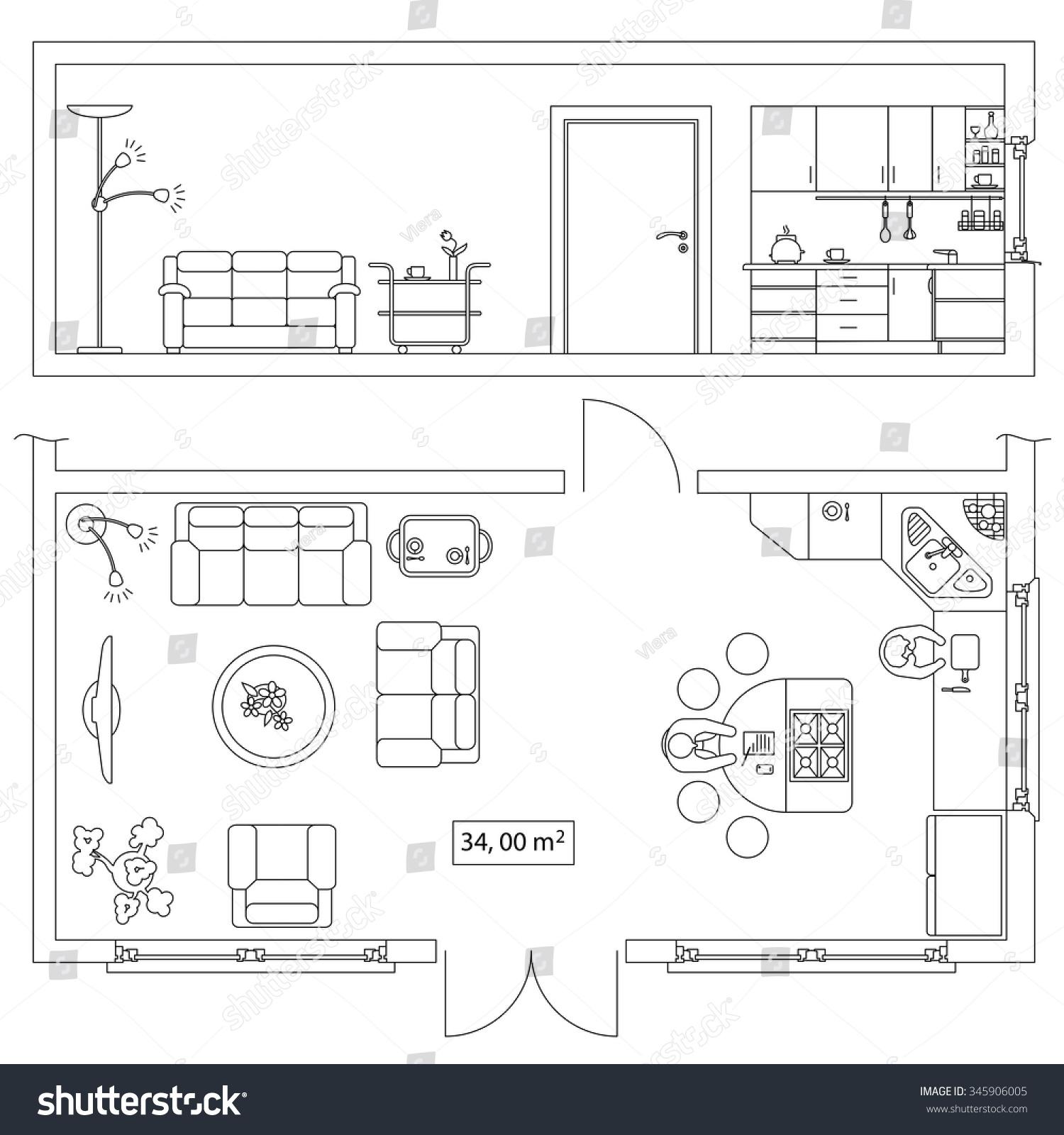 Sofa Interior Design Digital Plan