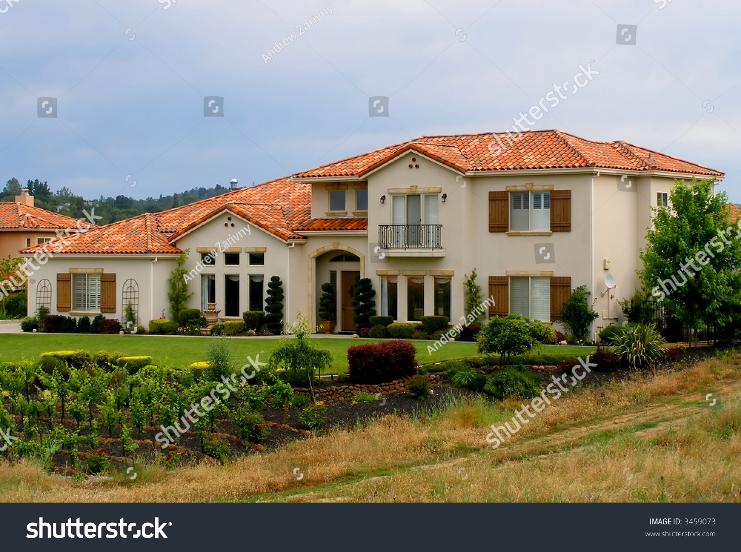 Big beautiful house and vineyard stock photo 3459073 for Big beautiful houses