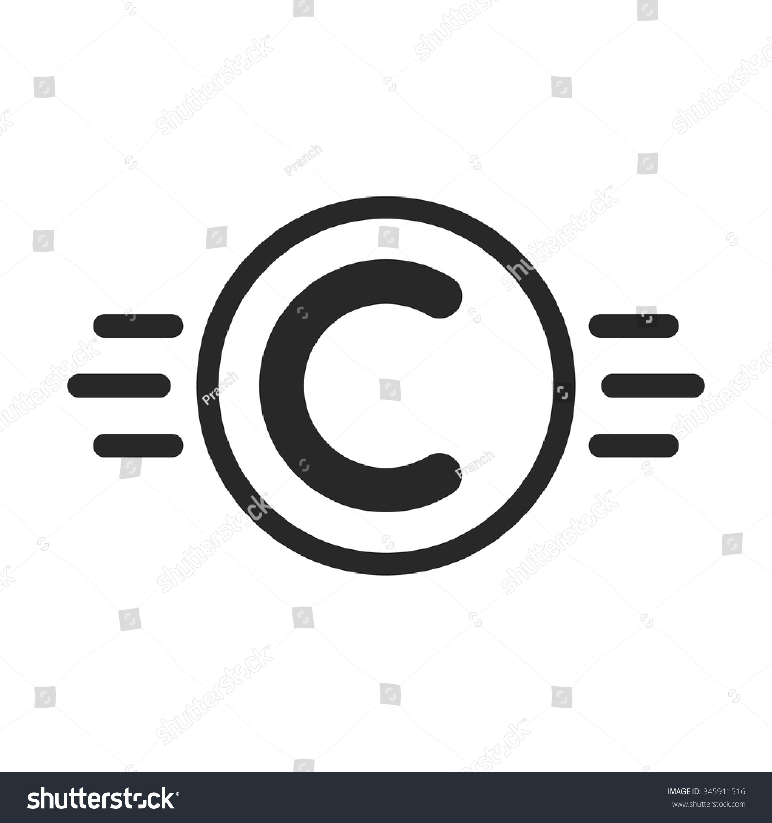 Copyright Symbol Like Intellectual Property Concept Of Copyright