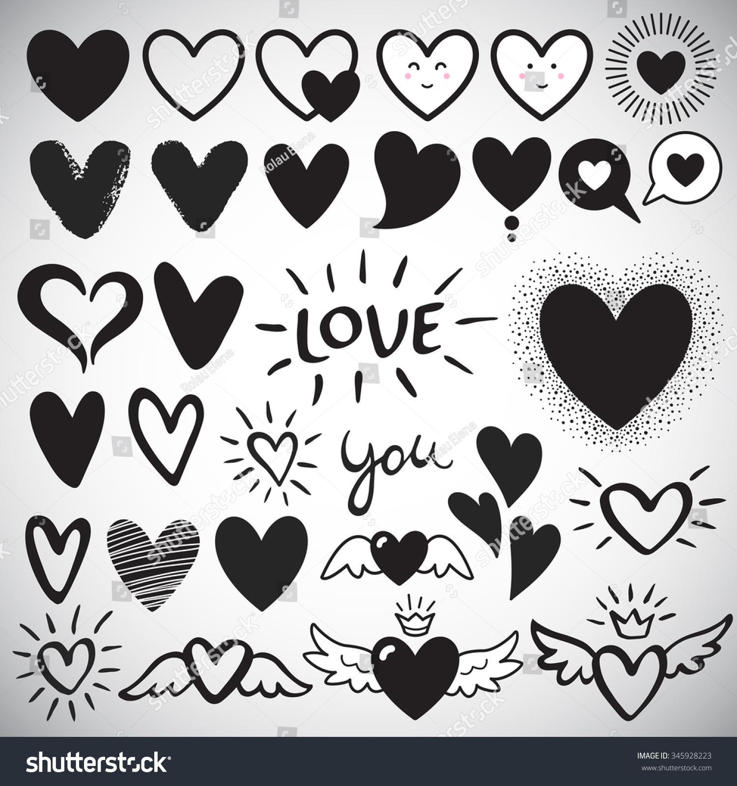 heart templates very small small medium heart shapes on
