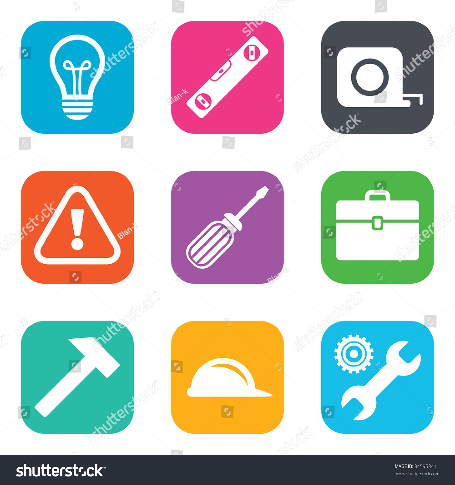 Royalty Free Stock Illustration Of Repair Construction Icons
