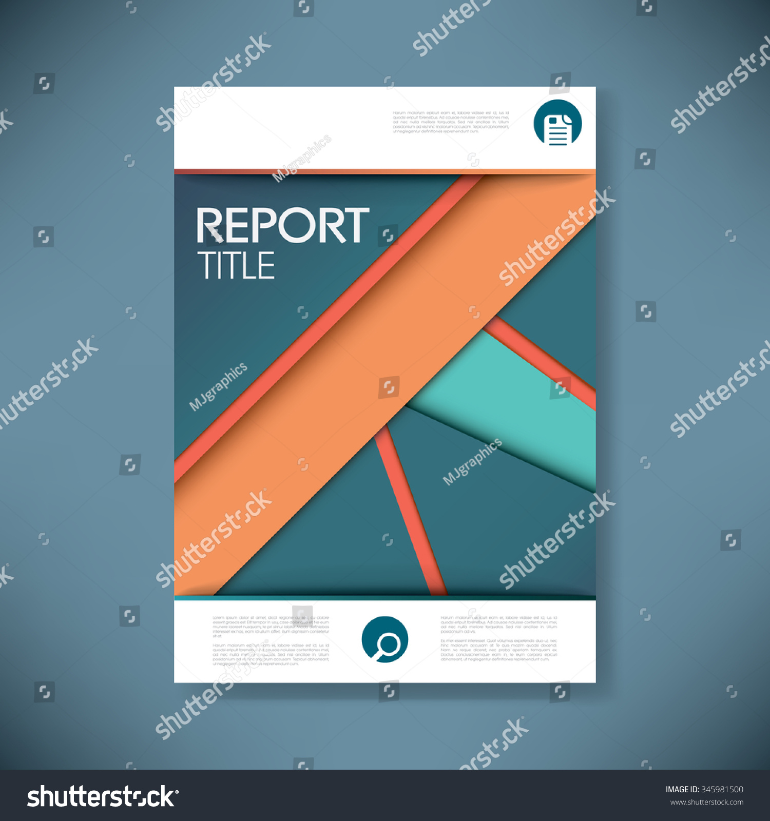 report cover template business presentation brochure stock vector, Presentation templates