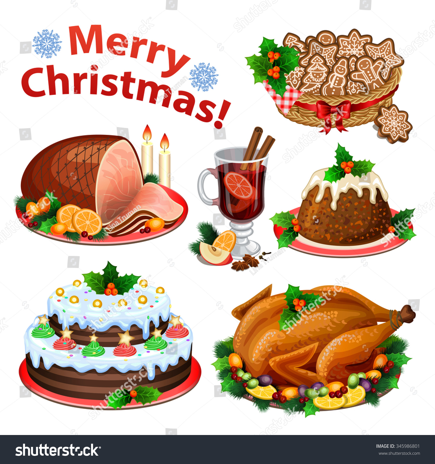 clipart christmas dinner pictures - photo #16