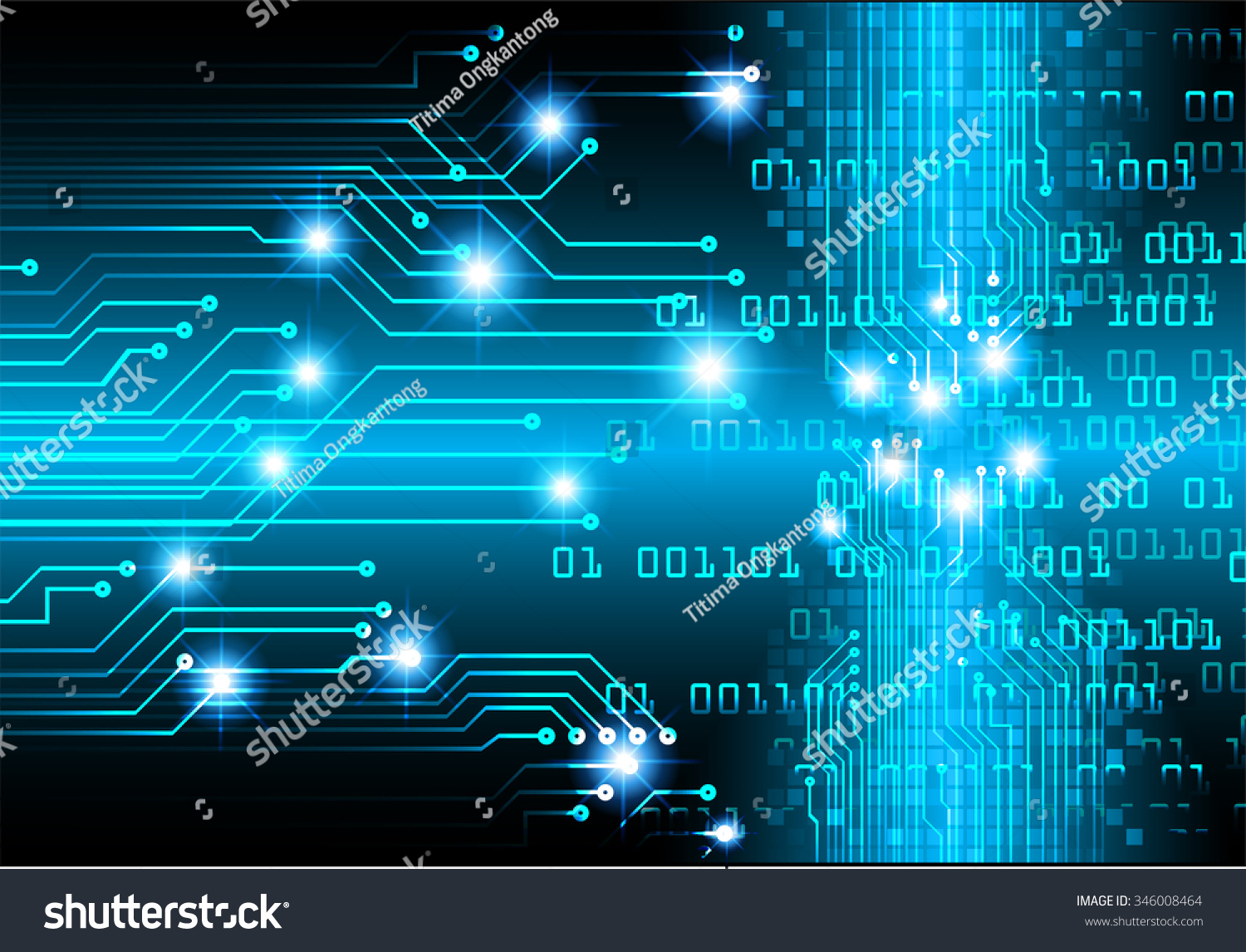 Dark Blue Color Light Abstract Technology Background For Computer Code And Circuit Board Illustration Id 346008464