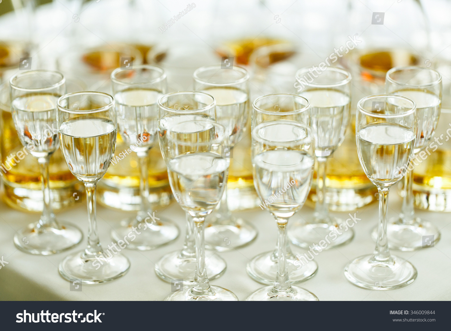 Elegant And Luxury Alcohol Table Wine Champagne Cognac At Wedding