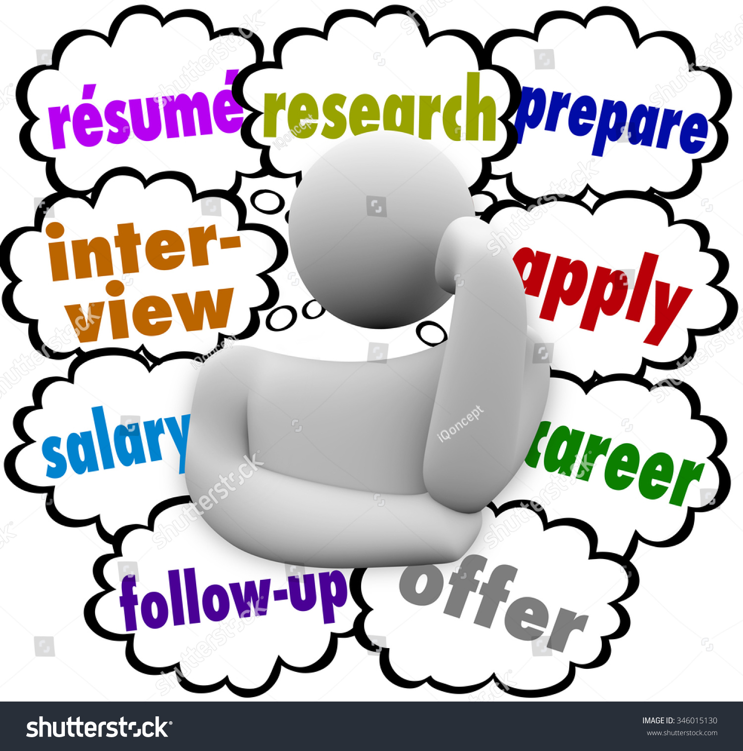 resume job hunting application process words stock illustration Social Work Resume resume and job hunting or application process words in thought clouds over a worker or employee