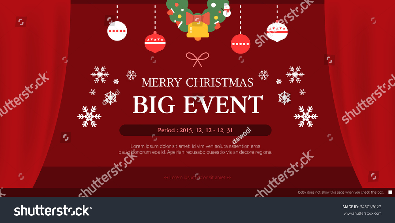 Christmas Event Template Stock Photo Photo Vector Illustration