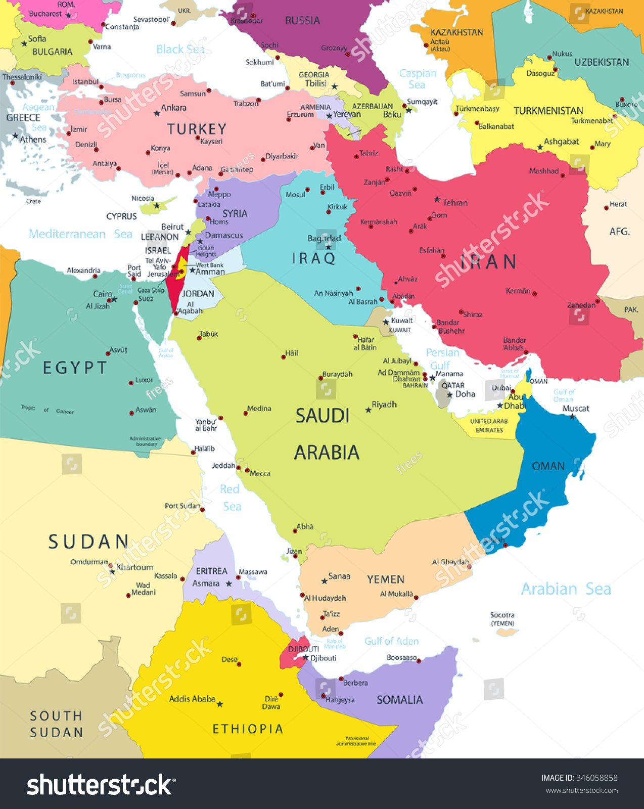 Best Map Of The Middle East Labeled Ideas - Printable Map - New ...