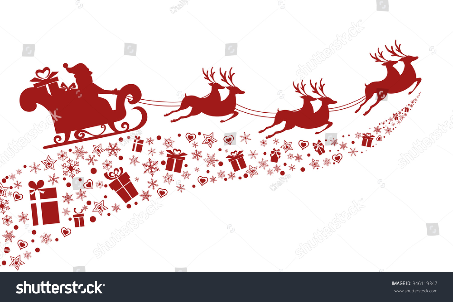 online image   photo editor shutterstock editor santa sleigh clipart santa and sleigh silhouette clipart