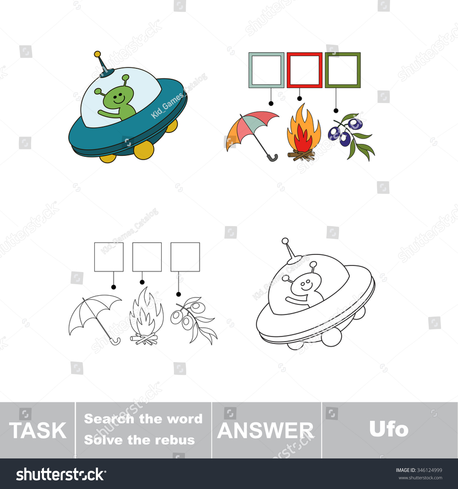 Vector Game Search Word Find Hidden Stock Vector Royalty Free