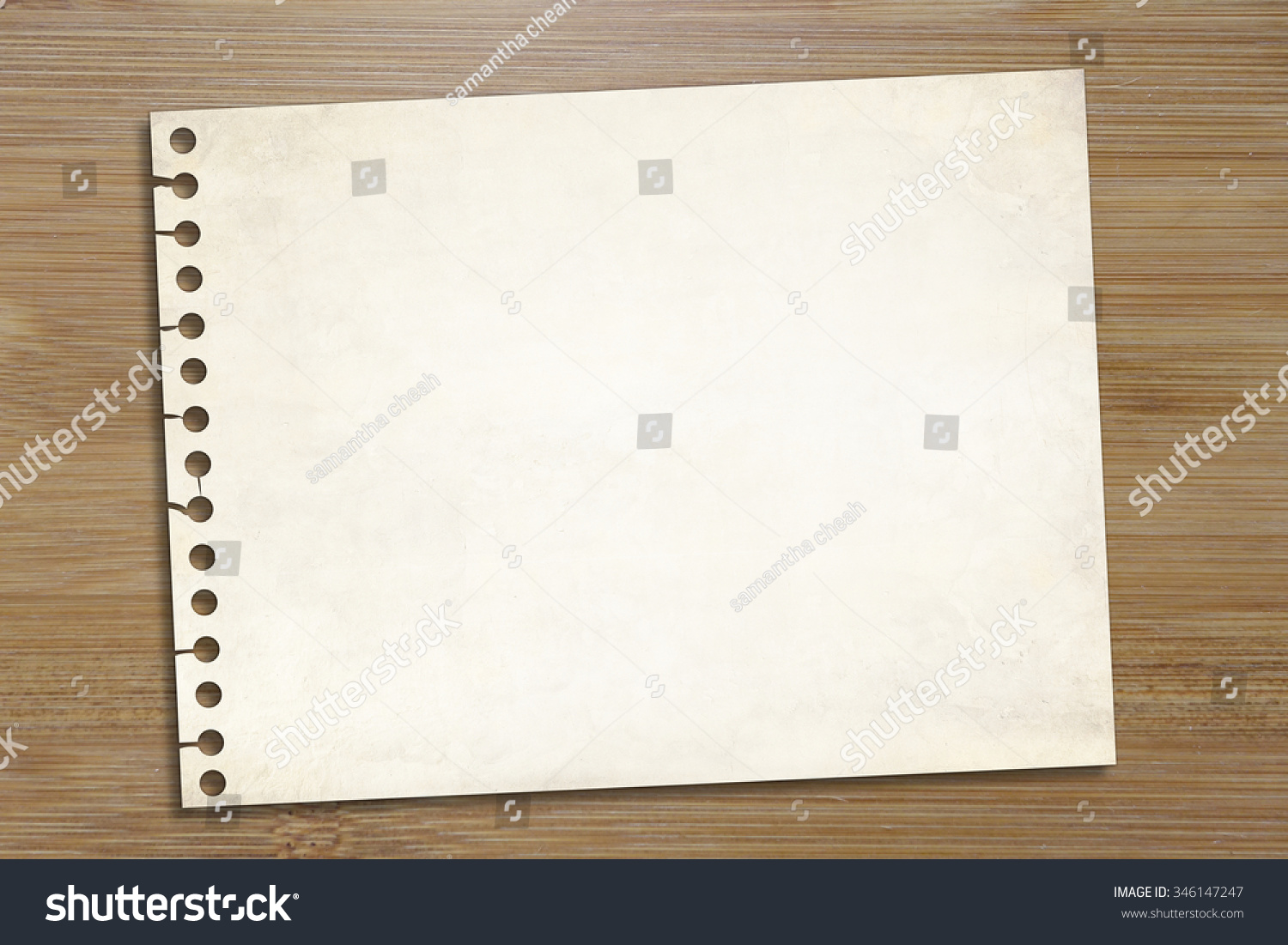 royalty blank note paper over wooden background 346147247 blank note paper over wooden background office use memo notepad business school education idea template