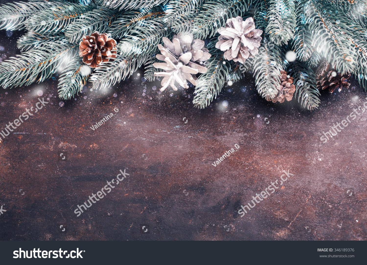 Christmas holidays background with snow Lots of copy space