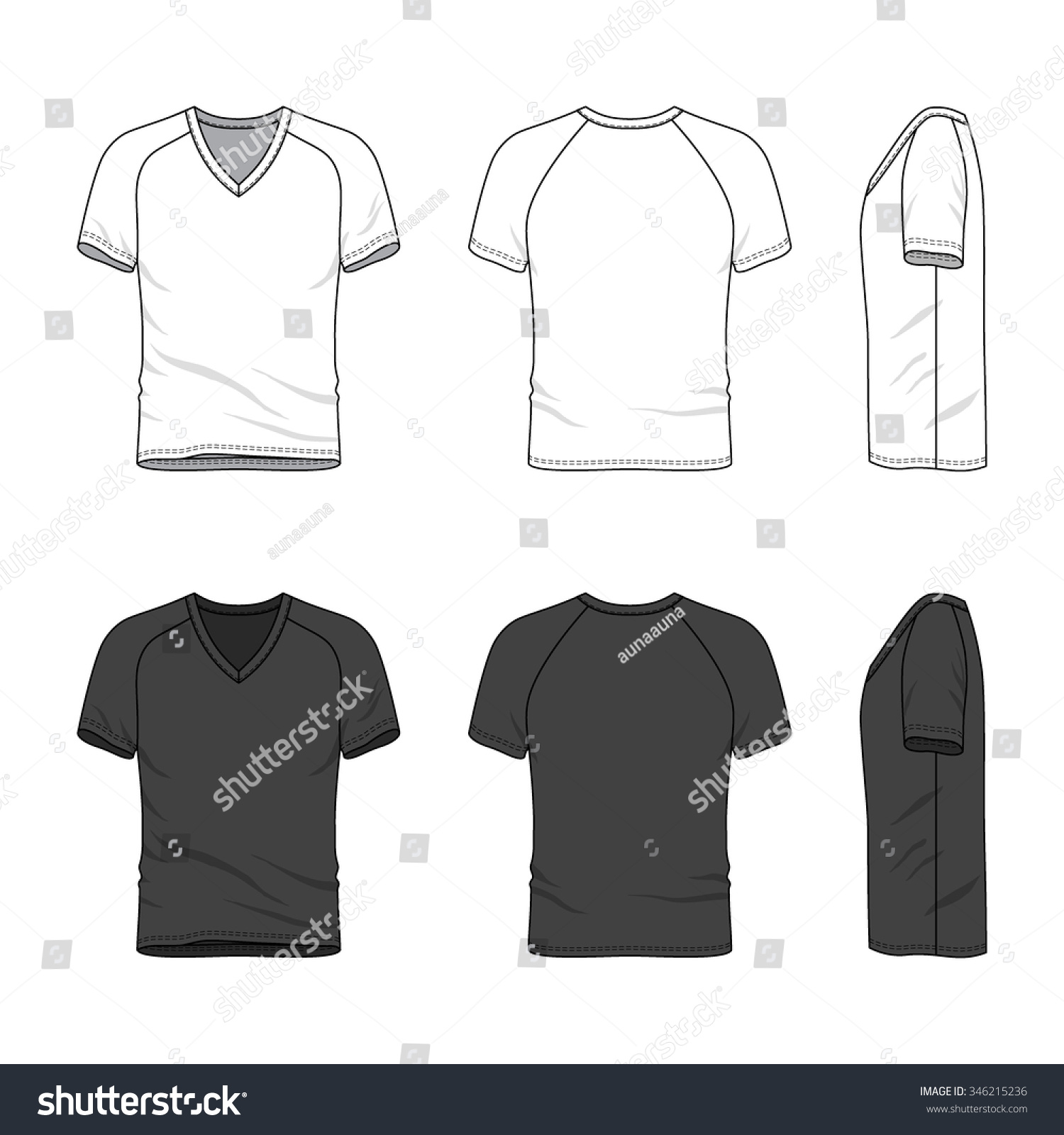 Black t shirt front and back plain - Men S Clothing Set In White And Black Colors Front Back And Side Views Of