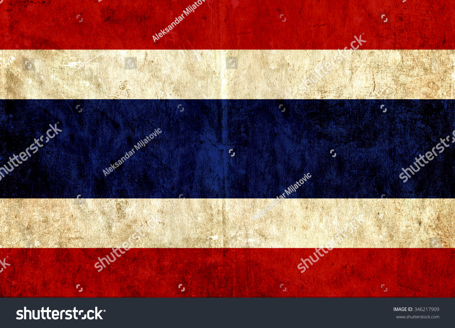 Royalty Free Stock Illustration of Grungy Paper Flag Thailand Stock