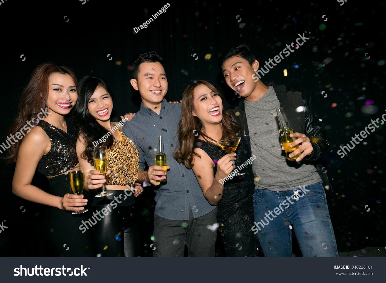 Asian girl clubbing