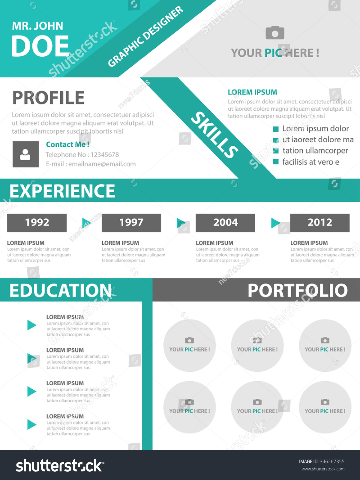 green smart resume cv template layout for job application stock    green smart resume cv template layout for job application preview  save to a lightbox