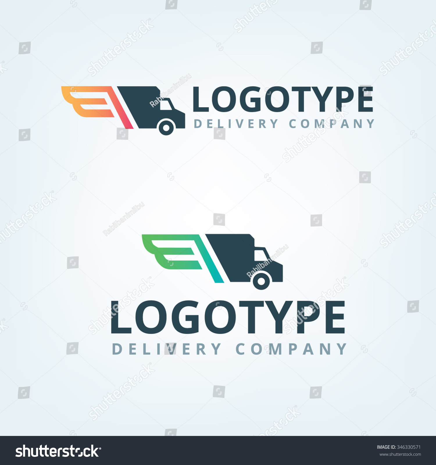 Delivery car company logo Wings logotype