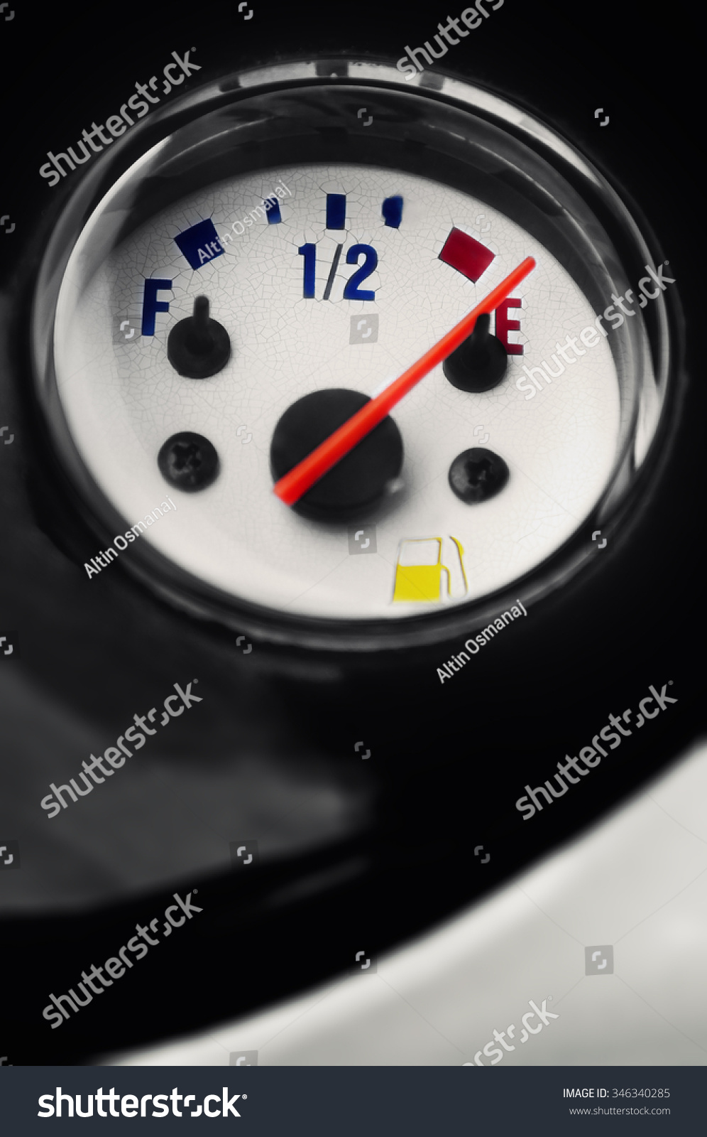 Motorcycle moped fuel gauge gage… Stock Photo 346340285