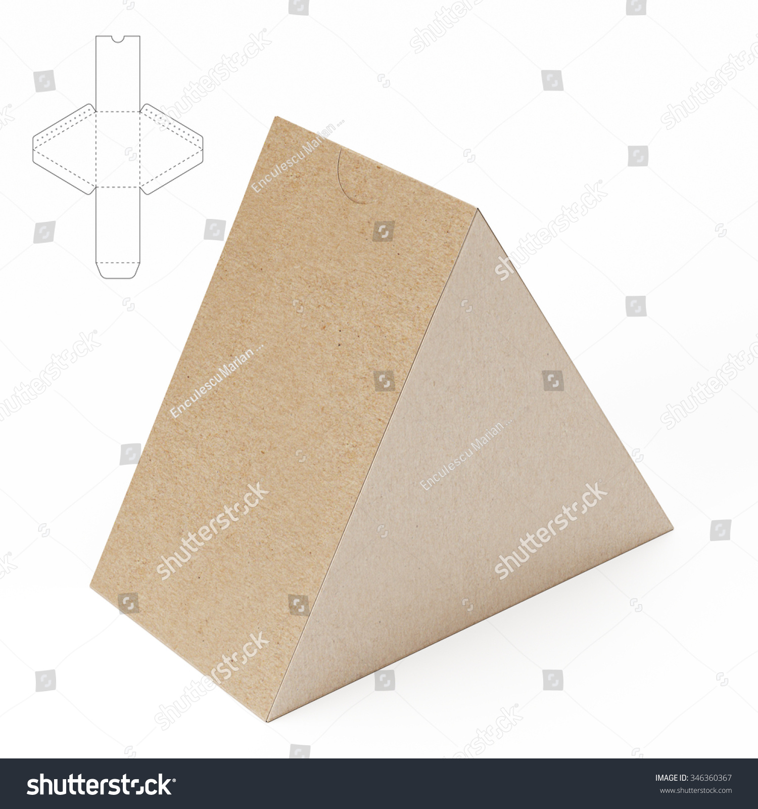 Triangle Box Template. triangular tube box with zipper seal and ...