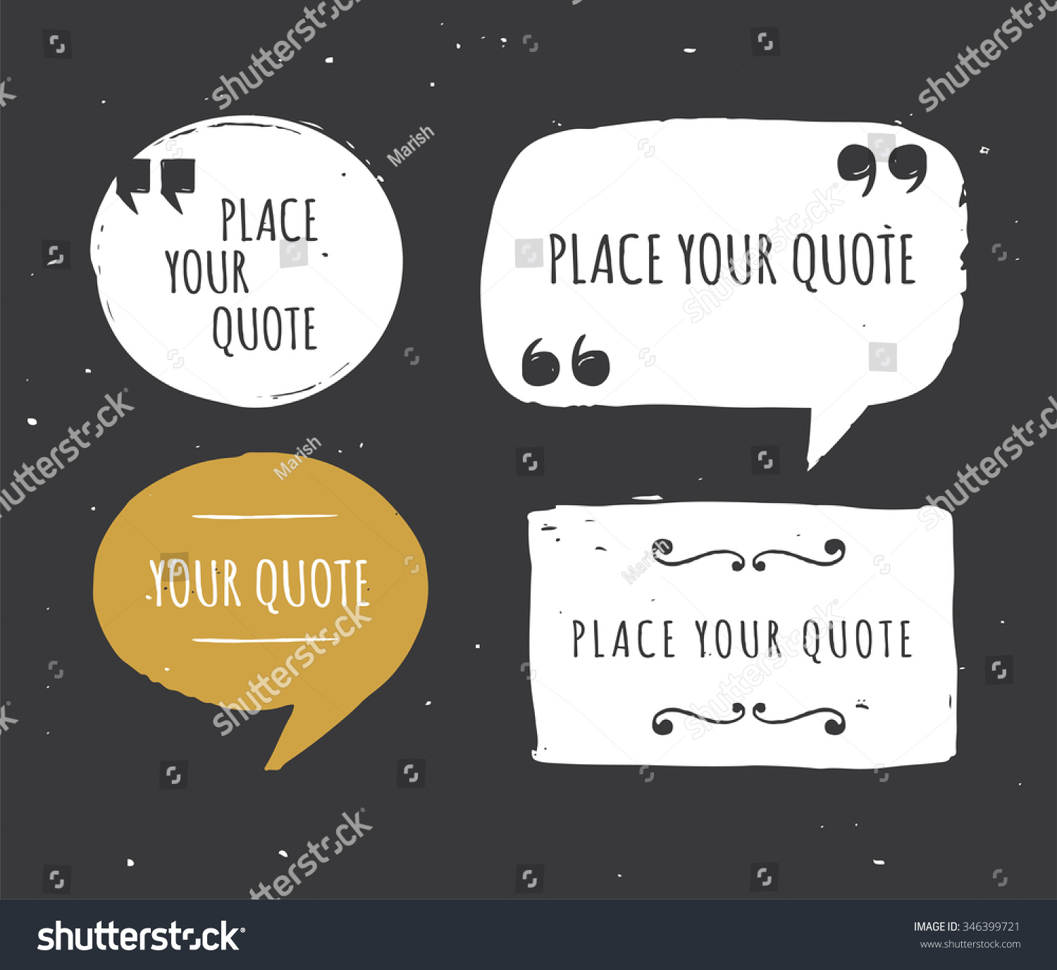 quotes templates anuvrat info quotes templates hand drawn black and white set stock vector
