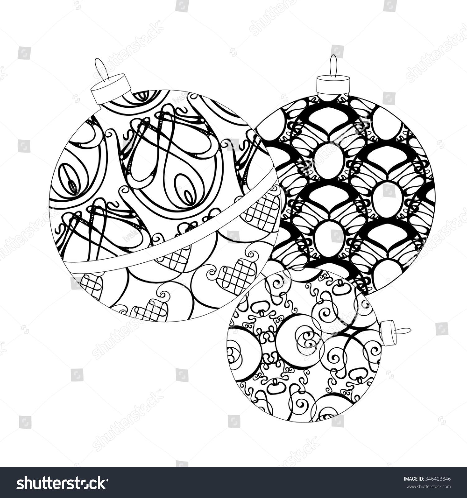Bauble Christmas Bulb Art Nouveau Patterns Stock Vector (Royalty ...