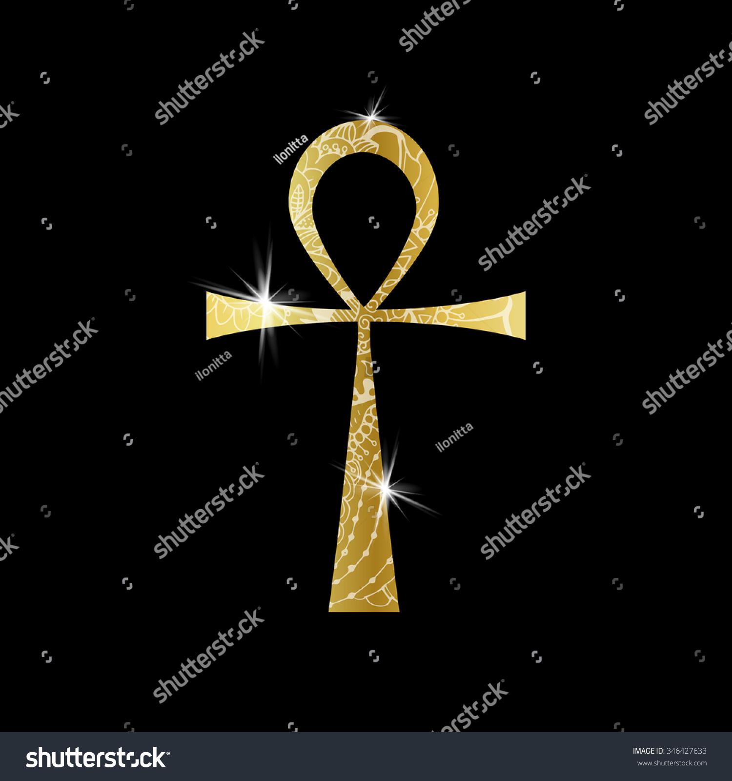 Ankh Symbol Gold Vector Egyptian Cross Stock Vector Royalty Free