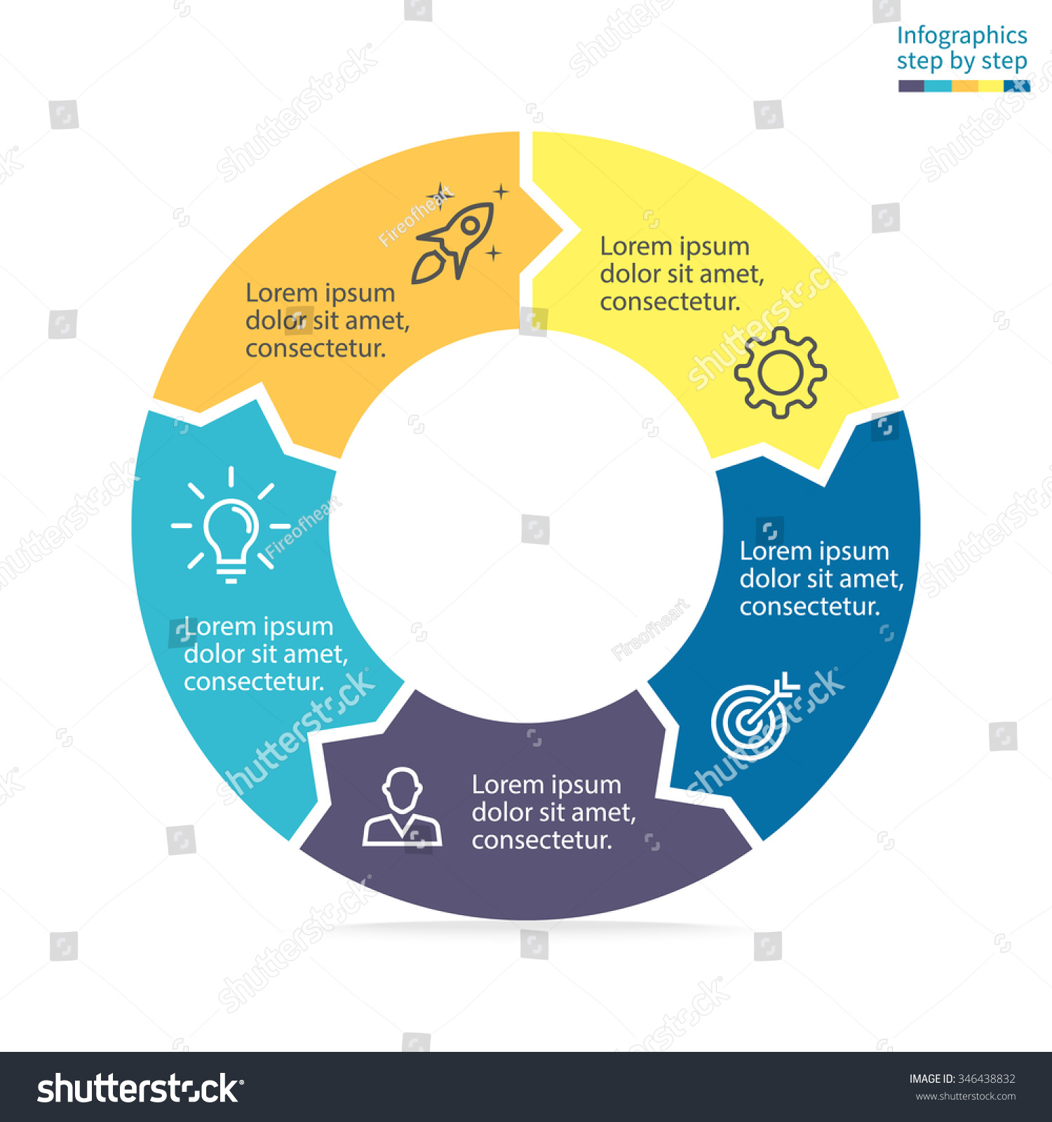 Circular diagram small arrows chart graph stock vector 346438832 circular diagram with small arrows chart graph diagram with 5 steps options ccuart Images