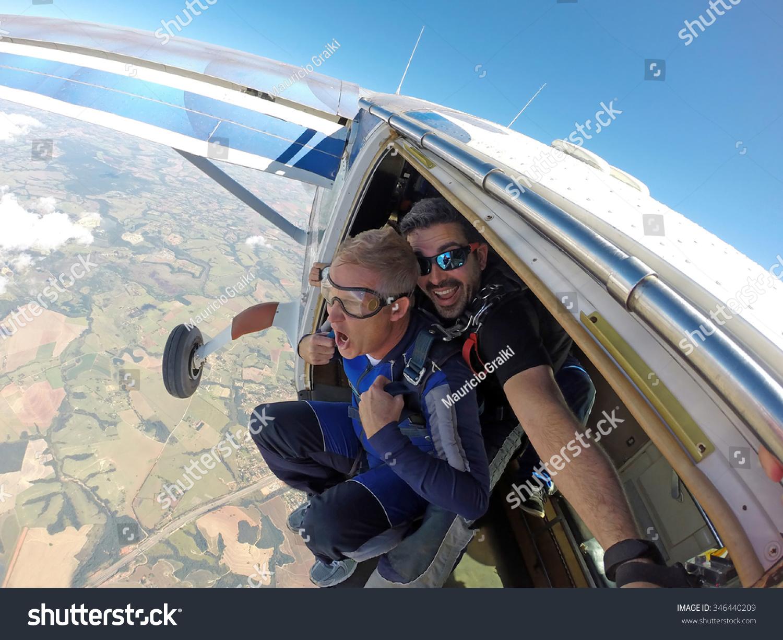 Skydiving plane door