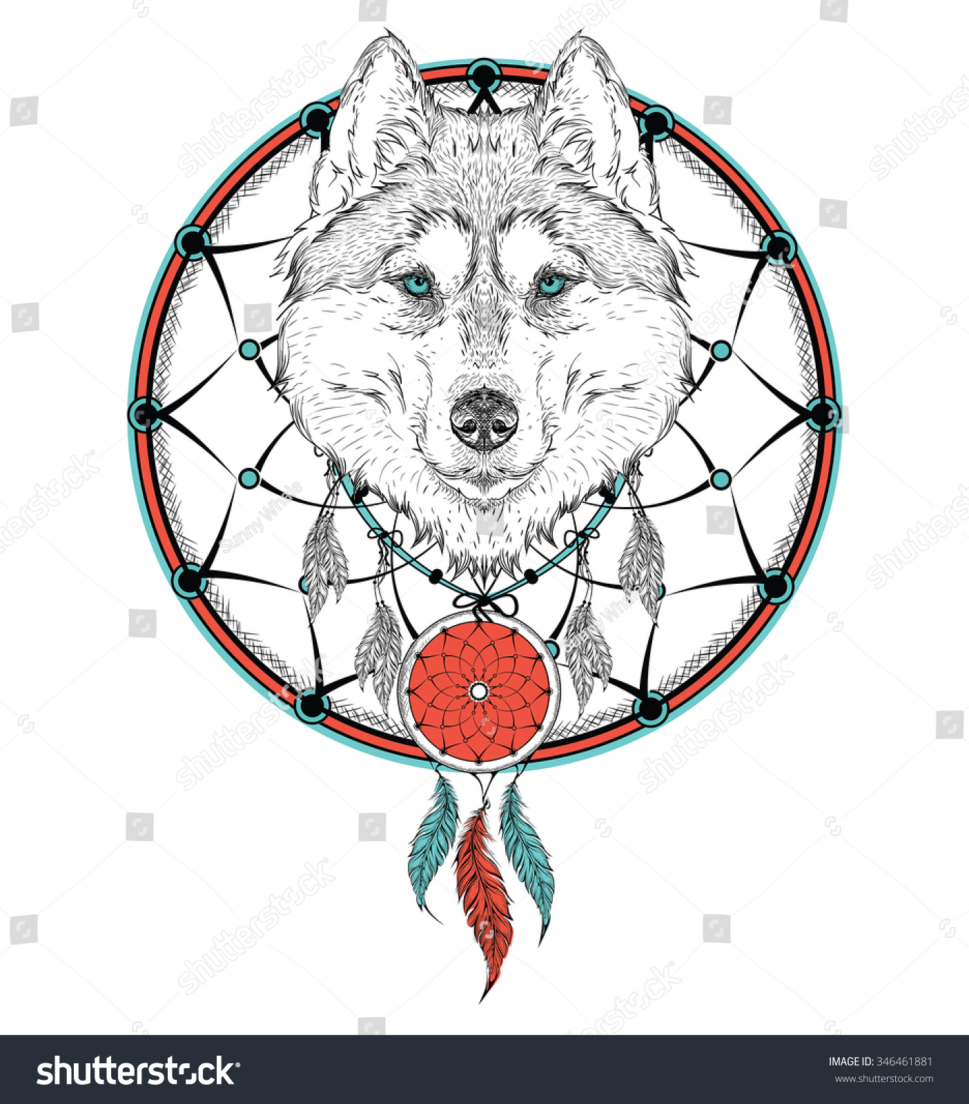 Animal hand drawn illustration wolf indian stock vector 346461881 animal hand drawn illustration wolf indian warrior native american poster hand draw vector ccuart Images